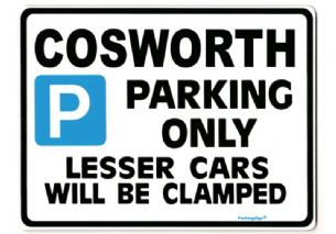 Cosworth Large Sign for sierra  escort rs500 sapphire